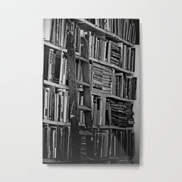 Book Shelves Metal Print