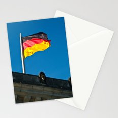 the flag of Germany Stationery Cards
