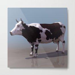 Baby American Cow Metal Print