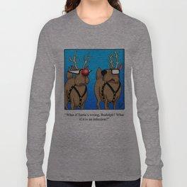 Reindeer Nose Humor Long Sleeve T-shirt