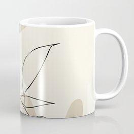 leaves minimal shapes abstract Coffee Mug