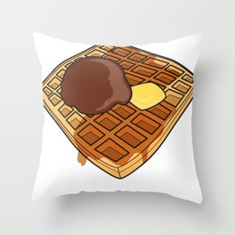 Waffle Time is Anytime. Throw Pillow