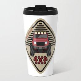 Red offroad car truck 4x4 Travel Mug