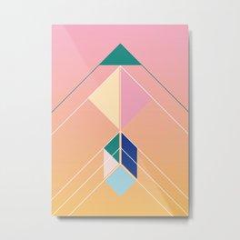 Tangram Arrow Three Metal Print