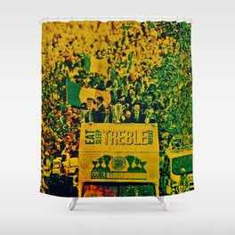 Double Treble Time Bus Parade Party Shower Curtain