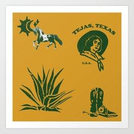 tejas, texas Art Print