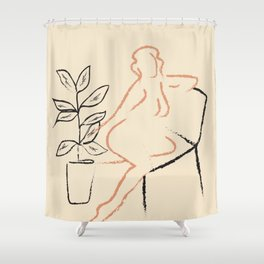 Nude Line Shower Curtain