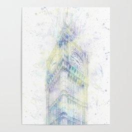 Modern Art BIG BEN   watercolor Poster