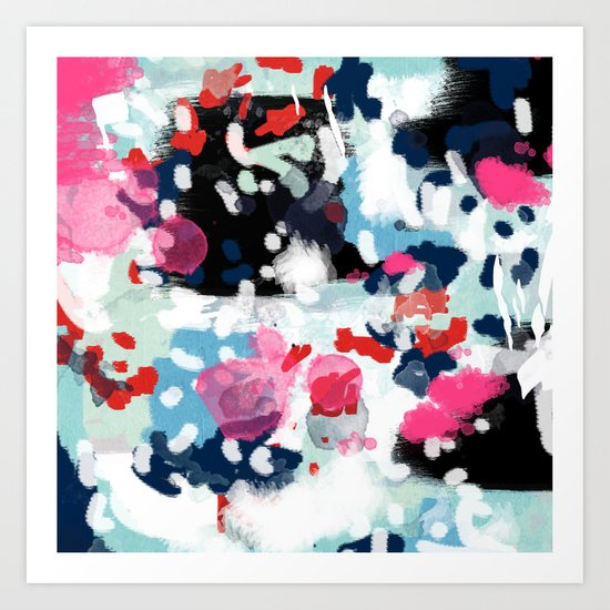 Paige - abstract painting hipster home decor trendy color palette art gifts Art Print
