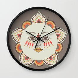 Moonflower Babe Wall Clock