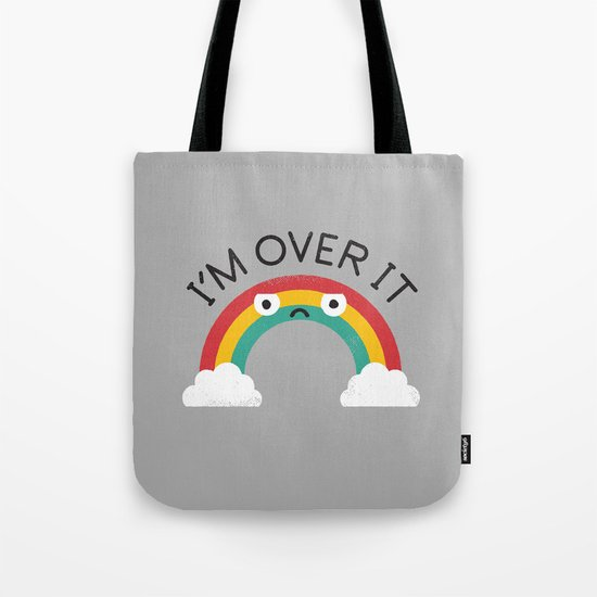 Above Bored Tote Bag