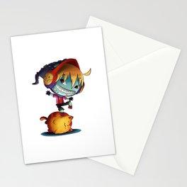 Dark Cat Monster Stationery Cards