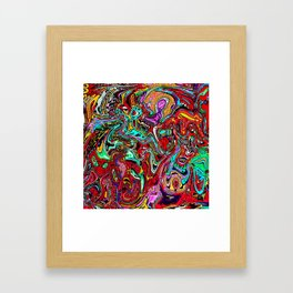 Crowded place Framed Art Print