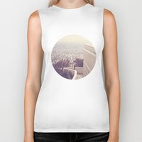 vermont Biker Tanks featuring Vermont Avenue by CMcDonald