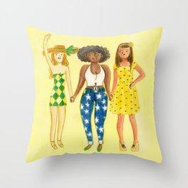 brazilian supporters Throw Pillow