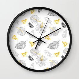 Leaves Pattern Wall Clock