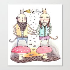 Monsters in Love Canvas Print