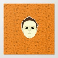 michael myers Canvas Prints featuring Michael Myers by Kuki
