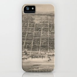 Vintage Pictorial Map of Louisville KY (1860) iPhone Case