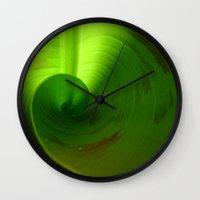 banana leaf Wall Clocks featuring Banana Leaf II by moo2me