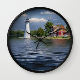 Rock Island Light - Clayton, NY Wall Clock