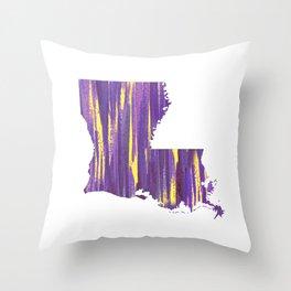 Geaux Louisiana Throw Pillow