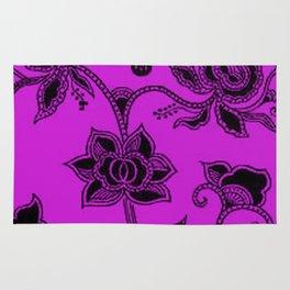 Vintage Floral Dazzling Violet Rug