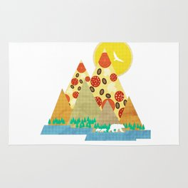 Springtime in the Pizza Mountains Rug