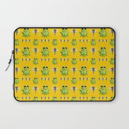 Frogs & Dragonfly Pattern Laptop Sleeve