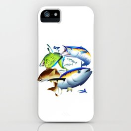 Dolphin, Wahoo, Red Drum and Tuna iPhone Case