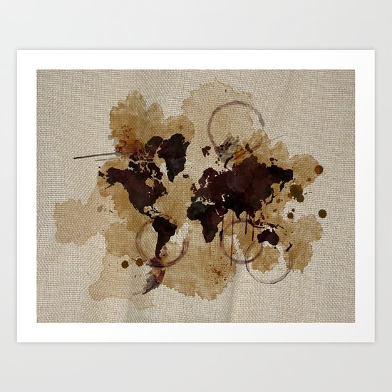 Map Stains Art Print