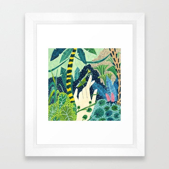 Jungle Praying Mantis Framed Art Print