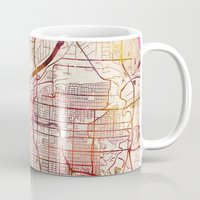 kansas Mugs featuring Kansas City by MapMapMaps.Watercolors