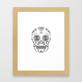 Typographic Sugar Skull Framed Art Print