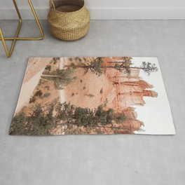 Landscape Of Bryce National Park, Utah Photo Art Print | Travel Photography Rug