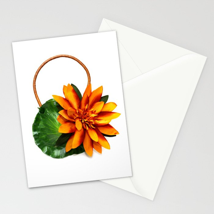 Gold Water Lily Handbag Stationery Cards