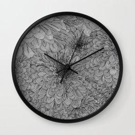 Linework Zinnias Wall Clock