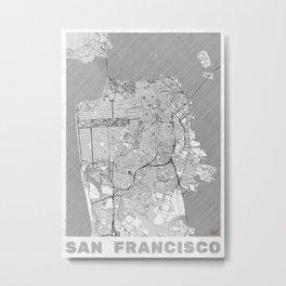 San Francisco Map Line Metal Print