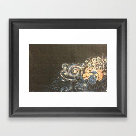 Doctor Who Van Gough Framed Art Print