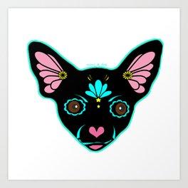Sugar Skull Chihuahua Dog Art Print