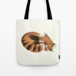 Baby Red Panda (Off-White) Tote Bag