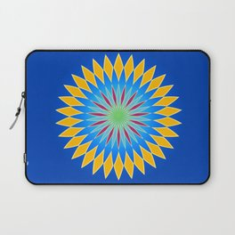 Colorful abstract star on dark blue background Laptop Sleeve
