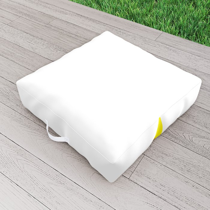 Lightning Fire Zig Zag Outdoor Floor Cushion