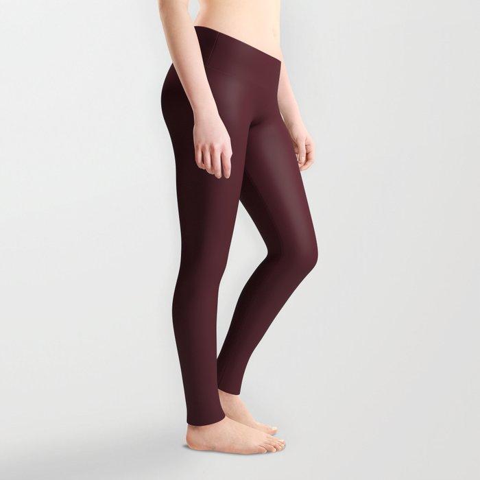 Tawny Port | Pantone Fashion Color Fall : Winter 2017 | Solid Color Leggings