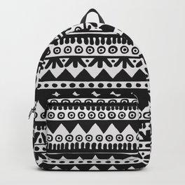 Black & White Hand-Drawn Ethnic Pattern II Backpack