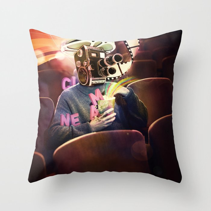 Cinema Poster Throw Pillow