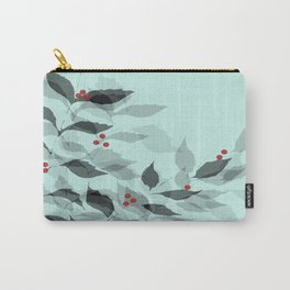 Leaves with Christmas Berries Carry-All Pouch