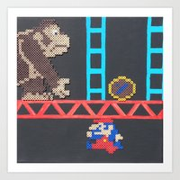 Donkey Kong & Jumpman Art Print