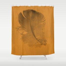 baby feather on a tangerine orange background Shower Curtain