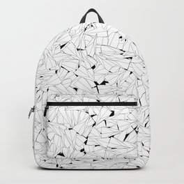 Paper planes B&W / Lineart texture of paper planes Backpack